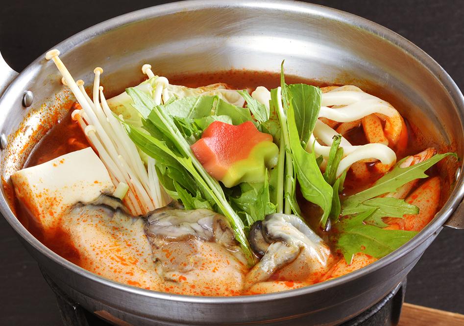 牡蠣のチゲ鍋(1人前)