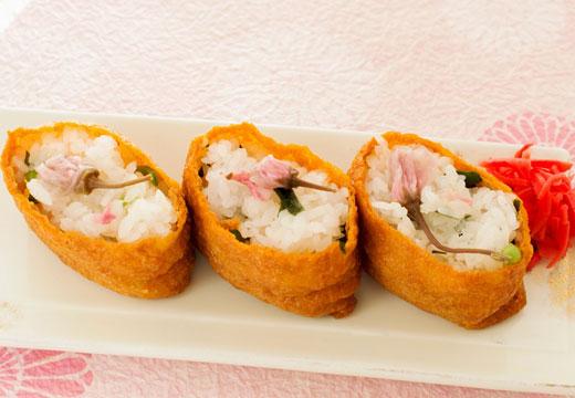 桜いなり寿司