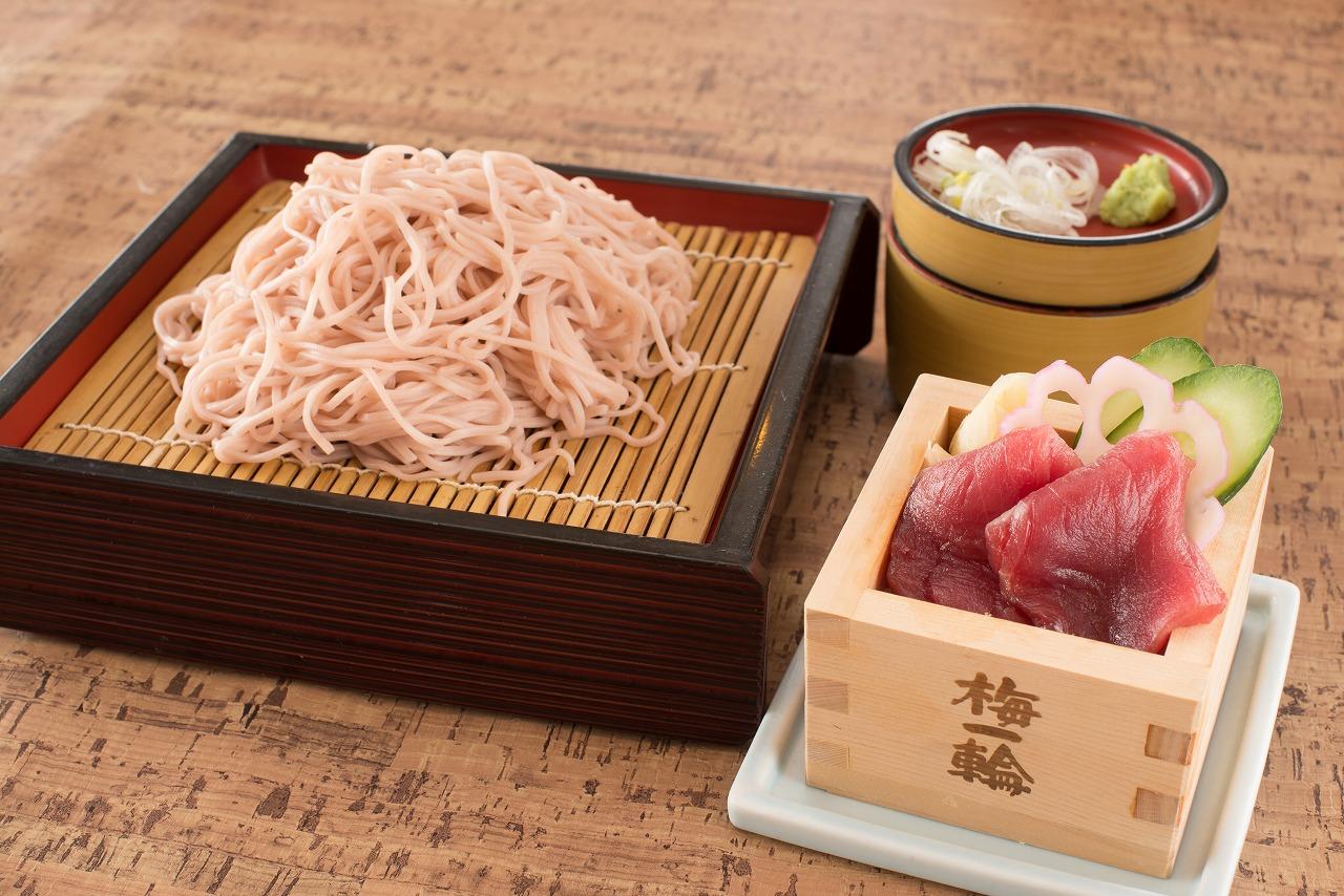 [さくらフェア] 桜そばと選べるミニ枡丼セット